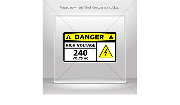 A5 150mm x 200mm DANGER 440 Volts Warning Sign Self Adhesive Sticker