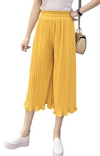 Yellow Cropped Pants - 2