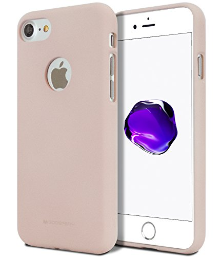 iPhone 7 Case for Apple iPhone 7, [Thin Slim] GOOSPERY [Flexible] Soft Feeling Jelly [Matte Finish] Silky TPU Rubber Liquid Gel Silicone Case [Lightweight] Bumper Cover, Pink ()
