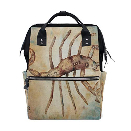 Diaper Bags Scorpio Constellation Universe Fashion Mummy Backpack Multi Functions Large Capacity Nappy Bag Nursing Bag for Baby Care for Traveling