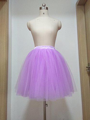 SCFL falda del ballet de la enagua del enaguas de la falda medio Lavanda