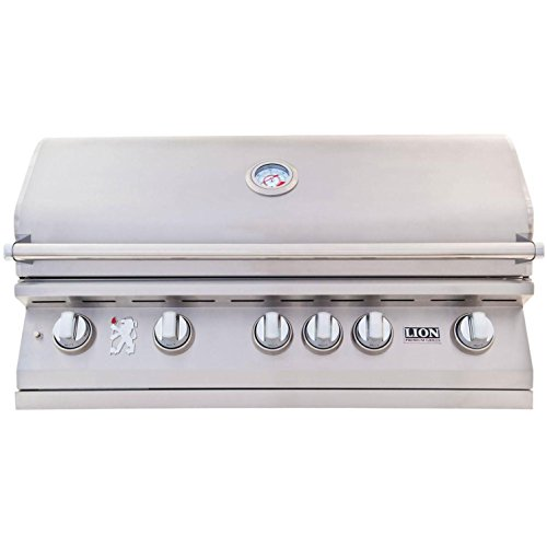 Lion 40-Inch Built-In Gas Grill - L90000 Stainless Steel Propane by Lion Premium Grills