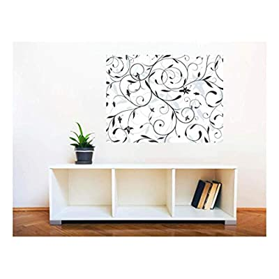 Lovely Picture, Removable Wall Sticker Wall Mural Seamless Floral Pattern Creative Window View Wall Decor, Made With Top Quality
