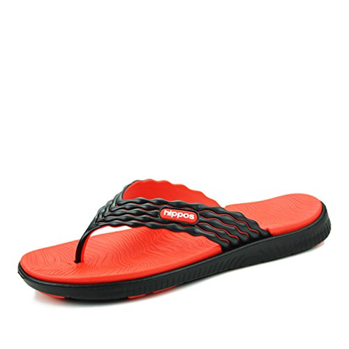 New Summer Men's Flip Flops Soft Massage Beach Slippers Men Sandals Casual Sapatos Masculino orange 7.5 Boss Orange White Rubber
