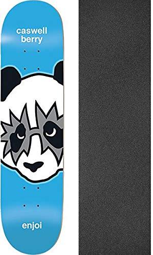 乱闘有望回復Enjoi Skateboards Caswell Berry Kiss スケートボードデッキ 樹脂 7-8.12インチ x 31.7インチ ブラックマジックグリップテープ付き - 2個セット
