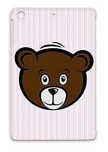 Small Design Teddy Bear Cute Cartoon Art Art Head Kids Cartoon Teddy For Ipad Mini Brown Protective Case