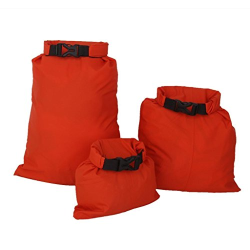 FidgetFidget Kayak Orange Set of 3Pcs Waterproof Dry Bag for Camping Canoeing Rafting by FidgetFidget (Image #6)