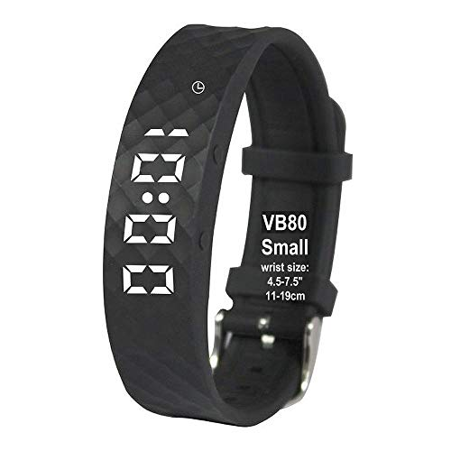 eSeasongear VB80 Vibrating Alarm Watch, Silent Vibration Shake Wake ADHD Medication Reminder (Black-Small)