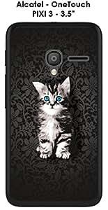 """Carcasa Alcatel OneTouch Pixi 3–3.5""""Design felino el gatito"""