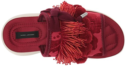free shipping for cheap outlet footaction Marc Jacobs Women's Emerson Pompom Sport Slide Sandal Red how much 7ODs6zvnwX