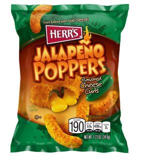 Herr Foods Jalapeno Popper Cheese Curls 1.23 oz Pack of - Cheese Poppers Jalapeno