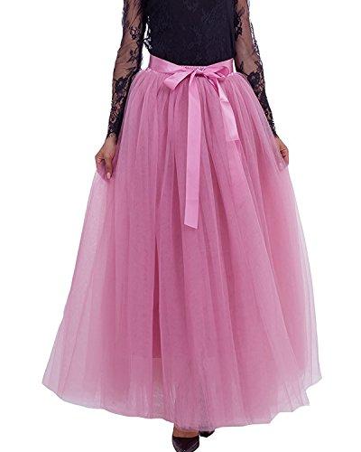 di Tulle Principessa gonna Comall 7 in 100cm Balletti Danza Donna Mauve Strati Tutu Gonna Petticoat Rossa Sottogonna Di PPzU7fRv
