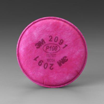 3M 2091 P100 Particulate Filter, 12 Pairs