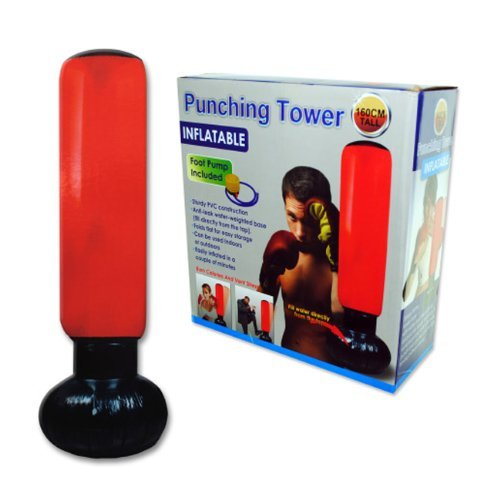 Bulk Buys 63'' Fitness Training Exercise Boxing Inflatable Punching Bag Pack of 1 by bulk buys