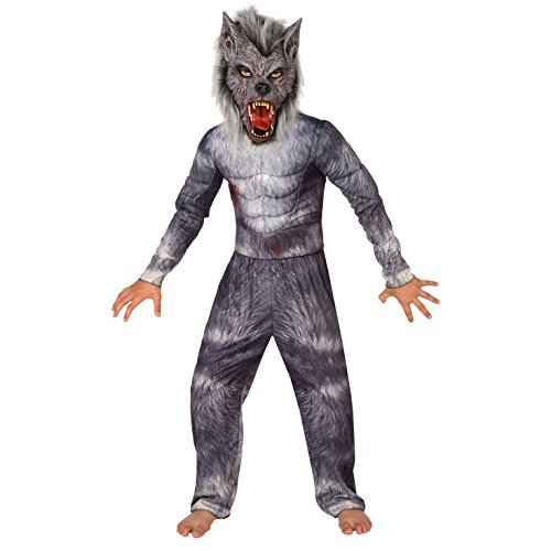 Halloween Werewolf Costumes For Kids (Boys Werewolf Deluxe Costume for Kids Quality Childs Wolf Dress Up, Werewolf, Large (53-58)