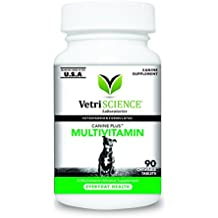 VetriScience Laboratories Canine Plus Multivitamin 90 Chewable Tablets for Dogs