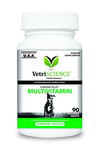 - VetriScience Laboratories - Canine Plus MultiVitamin for Dogs, 90 Chewable Tablets