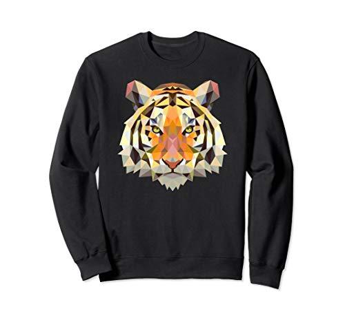 Cool Geometric Bengal Indian Tiger Face Sweatshirt Cat Gift