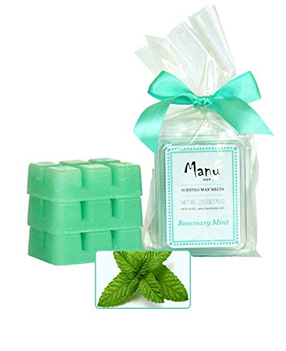 (Manu Home 7.5 oz Rosemary Mint Scented Wax Melts ~ 3-Pack ~ 50+ Hours of Fragrance When Wax Cubes are Melted in Scentsy or Standard Electric Warmer. Aromatherapy Oils ~ Made in USA)