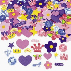 - 500 Self Adhesive Foam Princess Shapes - Stickers