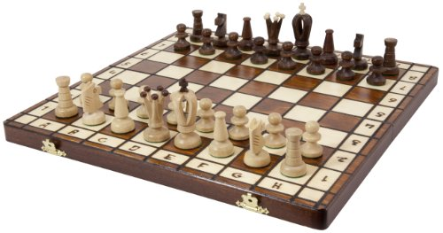 Royal 36 European Wood International Chess Set ()