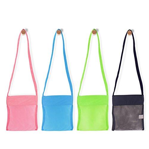 Hantajanss Beach Shells Bag Collect Shells Bag for Children Toys Pack of 4