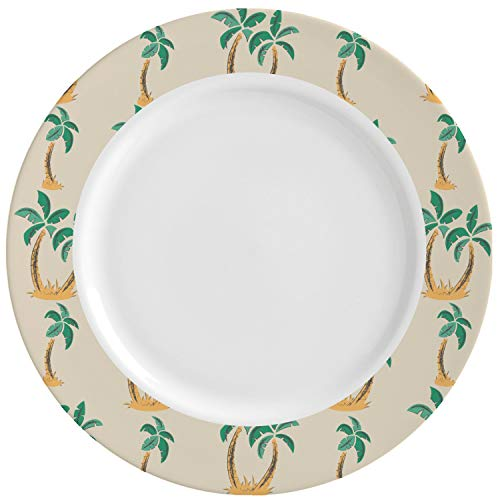 Palm Trees Ceramic Dinner Plates (Set of 4) -