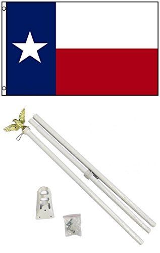 NEW 3'x5' TEXAS State Flags Polyester w/ 6' POLE Kits
