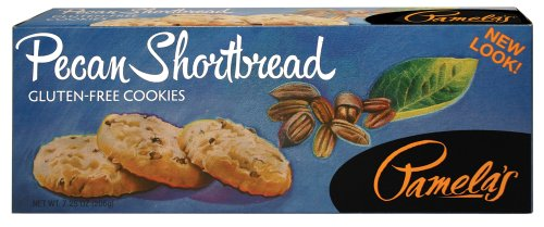 Cookies Shortbread Sugar Brown - Pamela's Products Gluten Free Shortbread, Pecan, 7.25-Ounce Boxes (Pack of 6)