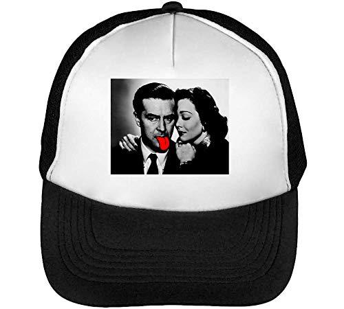 Snapback Couple Blanco Tongue Negro Hombre Retro Red Gorras Funny Beisbol xgHwnUqZYU