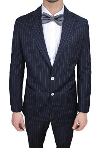 b33842fc5d2eb Abito uomo sartoriale italiano Vincent Trade blu gessato vestito completo  elegante cerimonia (48)  Amazon.it  Abbigliamento