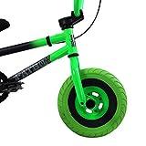 FatBoy Mini BMX Bicycle, Matte Black, Neon, Green