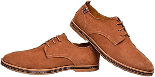 Another Summer Mens Business Leather Leisure Shoes Light Tan 3eU3Q