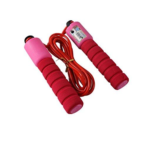 Yiwa Corde à sauter réglable de corde à sauter sans corde à sauter Poignée de transport en mousse pour exercice d'aérobic Fitness Poids perdre Couleur aléatoire