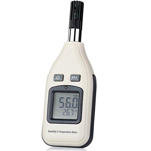 GRDE LCD Digital Luftfeuchtigkeit Temperatur Meter Thermometer für Industrie, Landwirtschaft, Meteorologie und Leben etc.