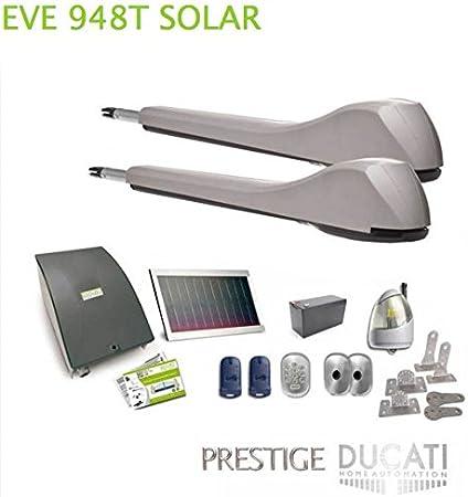 DUCATI EVE948T SOLAR kit de motorización para puertas batientes ...