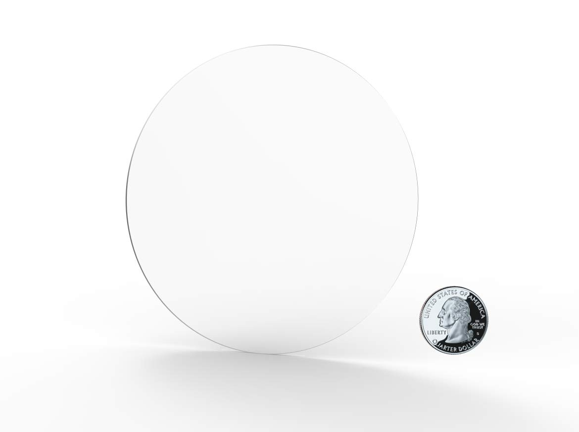 FixtureDisplays 1PK 18 Clear Acrylic Plexiglass Lucite Circle Round Disc 1//8 Thick 18822-18-1//8-FBA Fulfillmen by