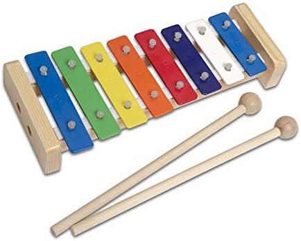 CASCHA Glockenspiel de madera de colores,