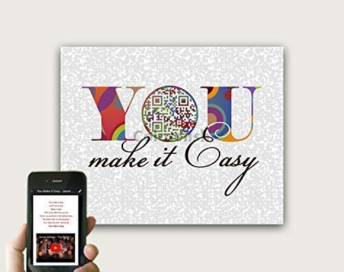 You Make It Easy by Jason Aldean Inspired QR Code Song Art, Wedding Gift For Couples, Unique Techy anniversary Gift, First Dance Song Lyric Wall Art, Print Only