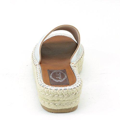 Straw Womens Brieten Wedge Thick Sandals New Comfort Silver Sole Platform tgvw1xq