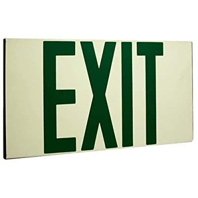 Elco Lighting EE80S Self Illuminating Exit Sign Green or Red Letters