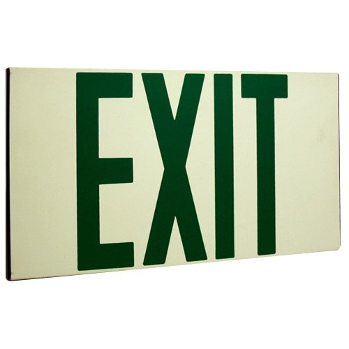 (Elco Lighting EE80S Self Illuminating Exit Sign Green or Red Letters)