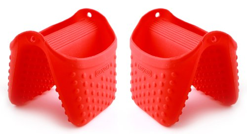 Dexas Silicone Pinch Mitt with Raised Nibs (Red 2 (Nib Signed)