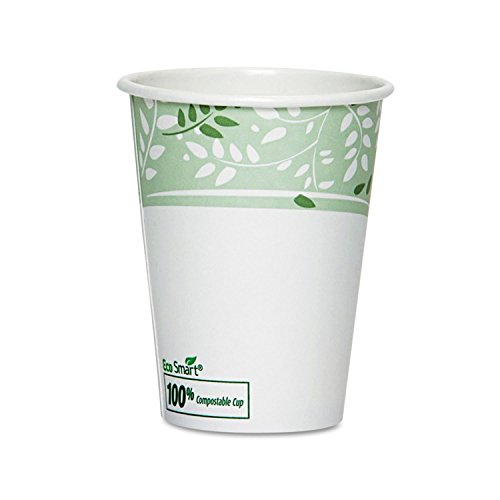 Dixie EcoSmart Hot Cups, Paper w/PLA Lining, Viridian, 8oz, 50/Pack