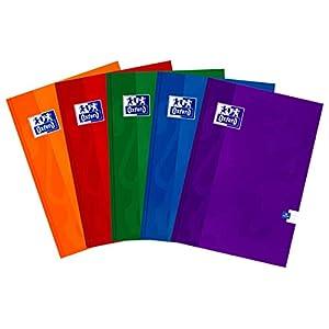 Oxford 400026717 Esse A4 de apuntes 96 hojas, línea, paquete de 5 unidades colores Mix