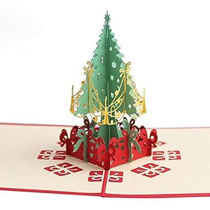 Invitación Serie Árbol hecho a mano tarjetas de Navidad 3D ...
