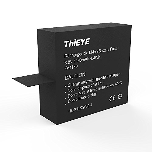 ThiEYE V5s Action Camera Original Battery Rechargeable Spare Battery 1180mAH 3.8 V Li-ion
