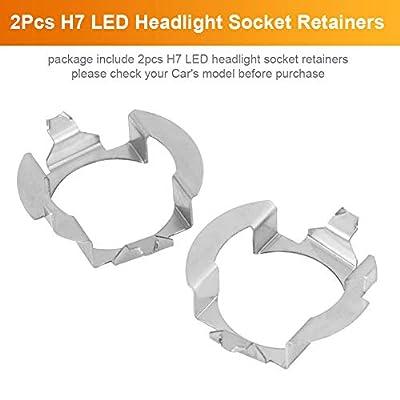 1 Pair H7 LED Headlight Adapter Bulb Base Holder Socket Retainer for Mercedes Benz B Class VW Touareg Opel: Automotive