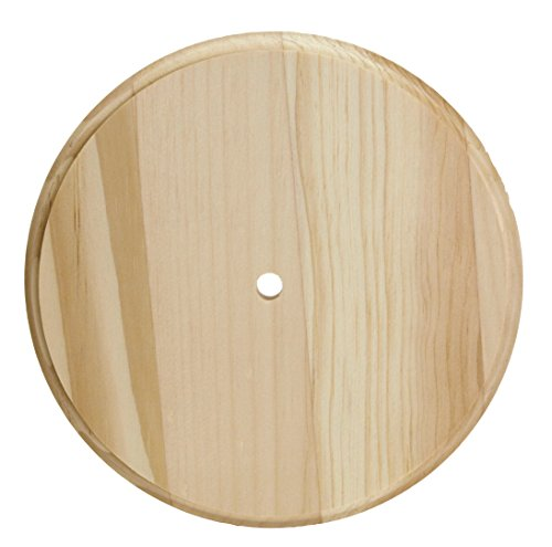 Blank Clock - Walnut Hollow 53212 Round Pine Wood Clock Face, 6 3/4-Inch