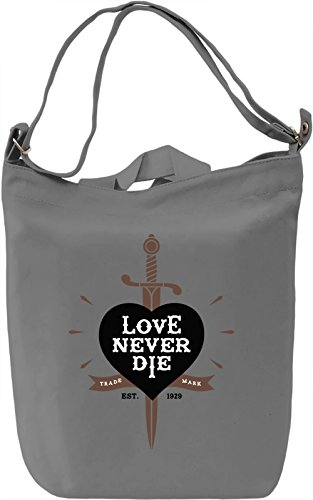 Love never die Borsa Giornaliera Canvas Canvas Day Bag| 100% Premium Cotton Canvas| DTG Printing|
